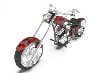 Custom chopper motorcycle for a negotiator